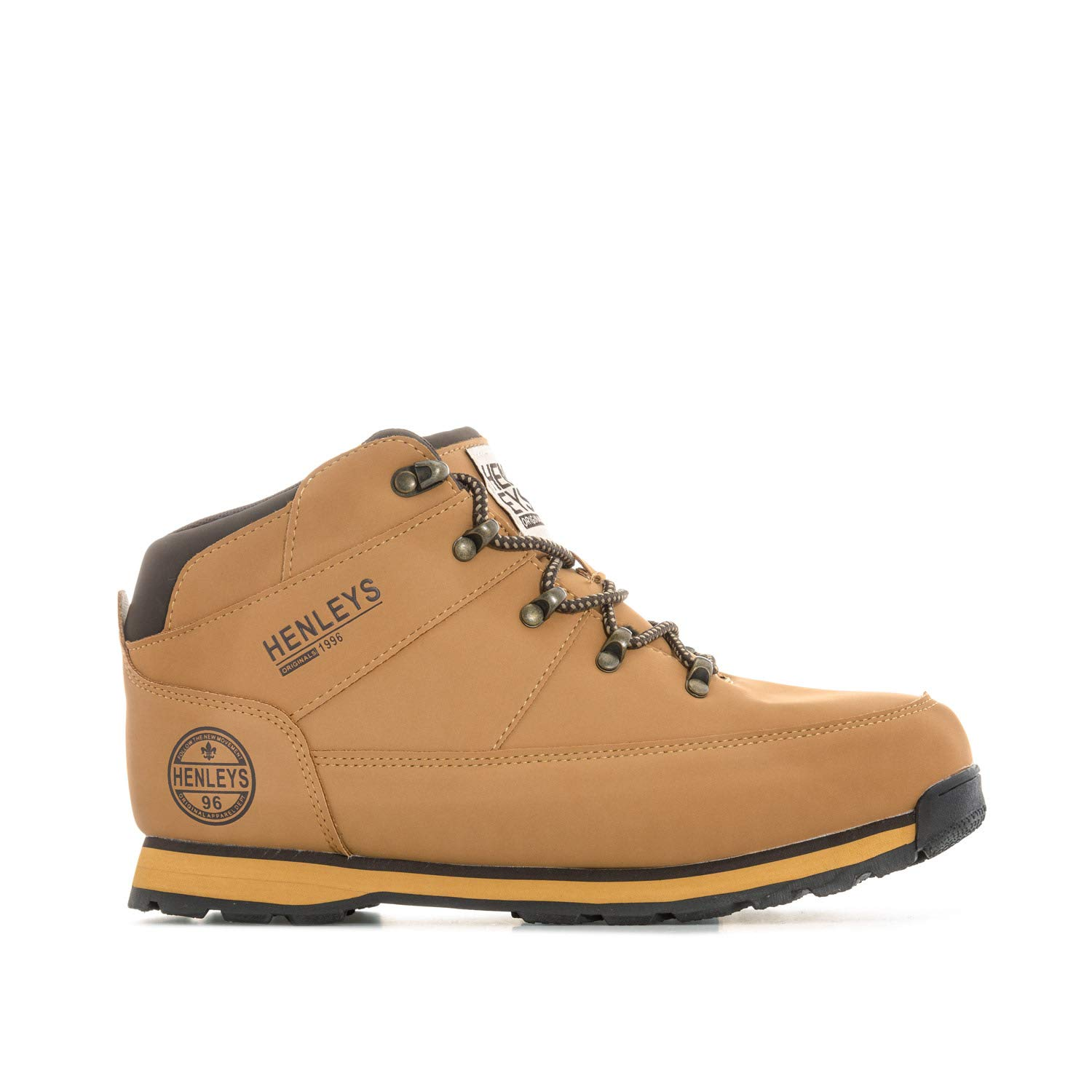 3f07fe13a06 Henleys Mens Mens Woodland Boots in Wheat - UK 11: Amazon.co.uk ...