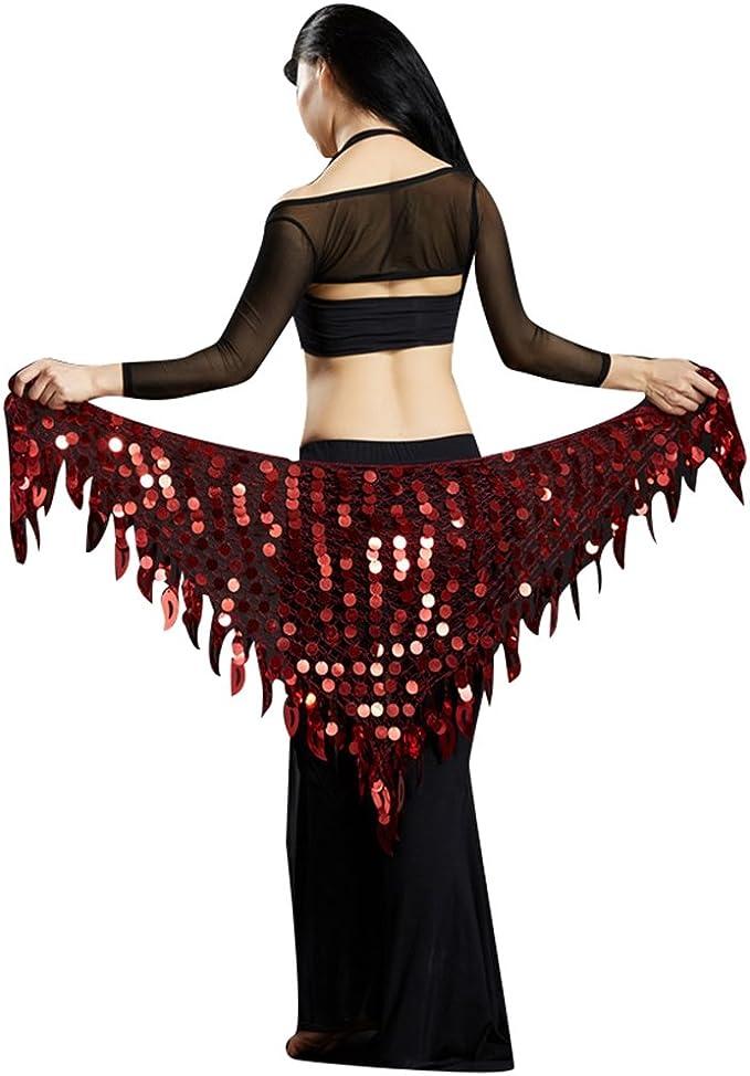 YuanDian Triángulo de la danza de vientre Wrap bufanda de la ...