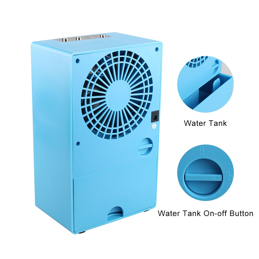 YOUDirect Personal Mini Air Conditioner Fan 9.5-inch - Small Desktop Fan Mini Evaporative Air Cooler Cooling Fan (Blue) by YOUDirect (Image #3)