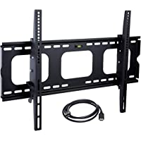 Mount-It! MI-303B TV Wall Mount Bracket for 32-65 inch LCD, LED, Plasma Flat Screen TV, Heavy Duty Load Capacity 175 lbs, 15 Degree Tilt Up or Down, Max VESA 600x400 with 6 ft HDMI Cable