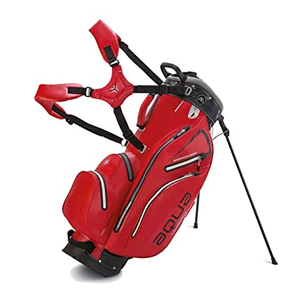 BIG MAX AQUA Hybrid Golf Standbag - 100% Wasserdicht-Rot ...