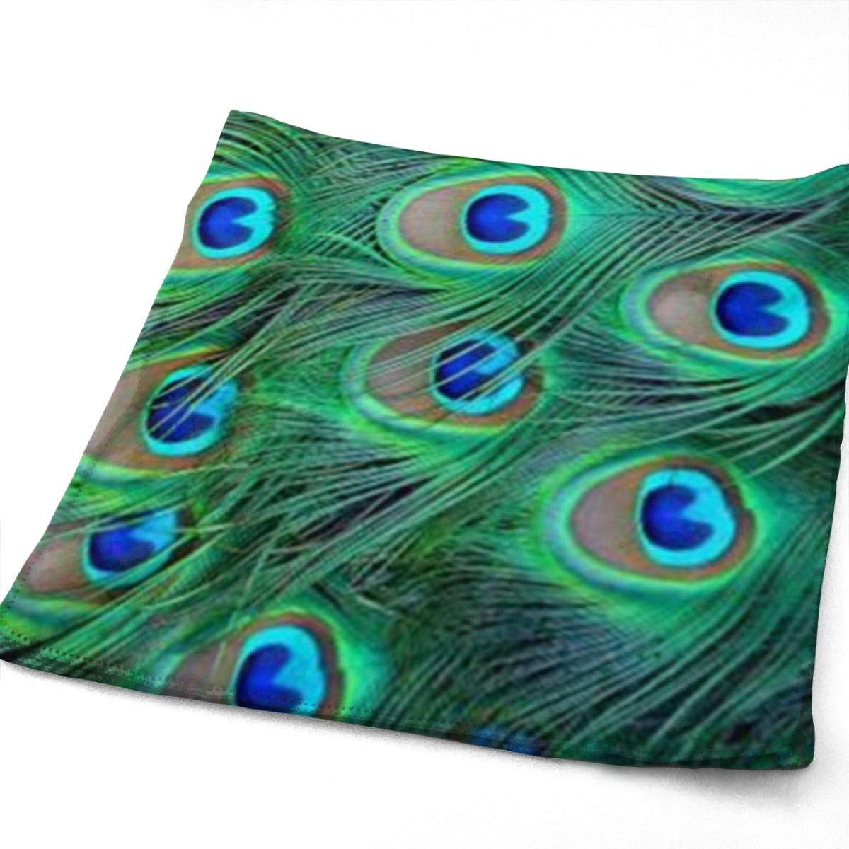 Maching916 Adorable Green Peacock Kitchen Towels-Dish Cloth-Machine Washable Cotton Kitchen Dishcloths,Dish Towel & Tea Towels for Drying,Cleaning,Cooking,Baking 12x27.5 Inch Kitchen & Table Linens