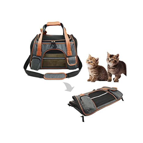 Transportín Gato, Portátil Transpirable Mascota Bolsa, Coche o en ...