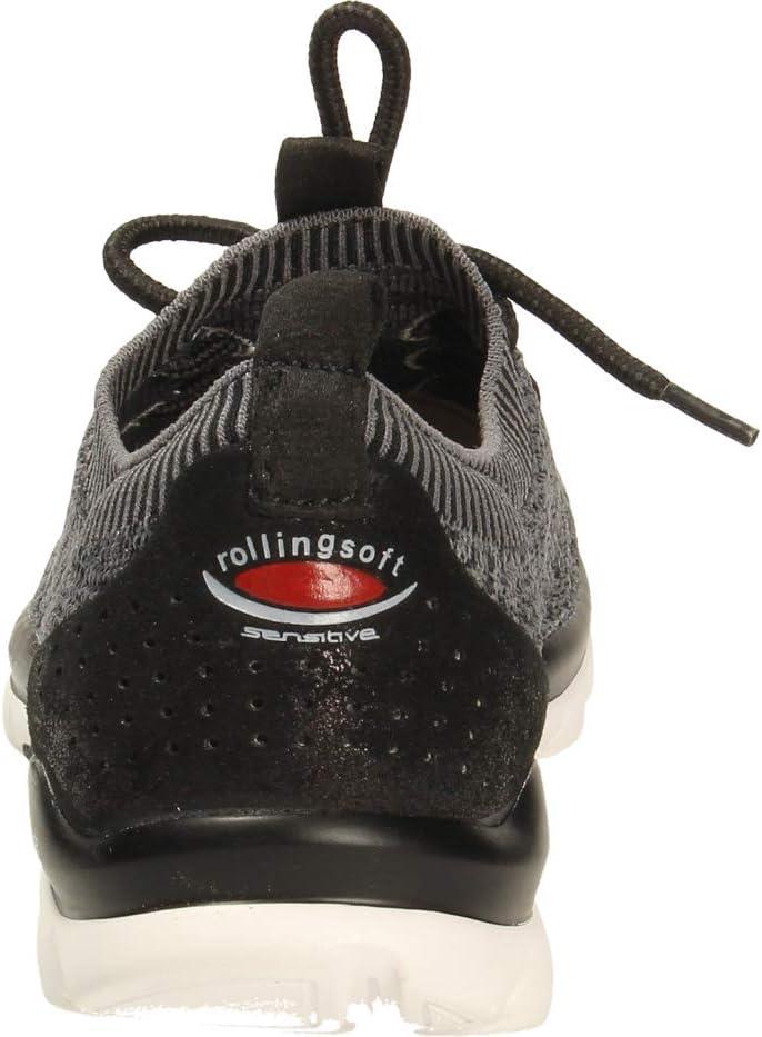 Gabor Rollingsoft Sneakers voor dames Grijs zwart