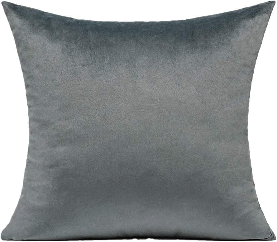 Black Lumbar Velvet Soft Solid Cushion Covers Decorative Rectangle Cozy Pillow Covers Home Decor for Living Room Couch Sofa Car 12x20 Inch Set of 2