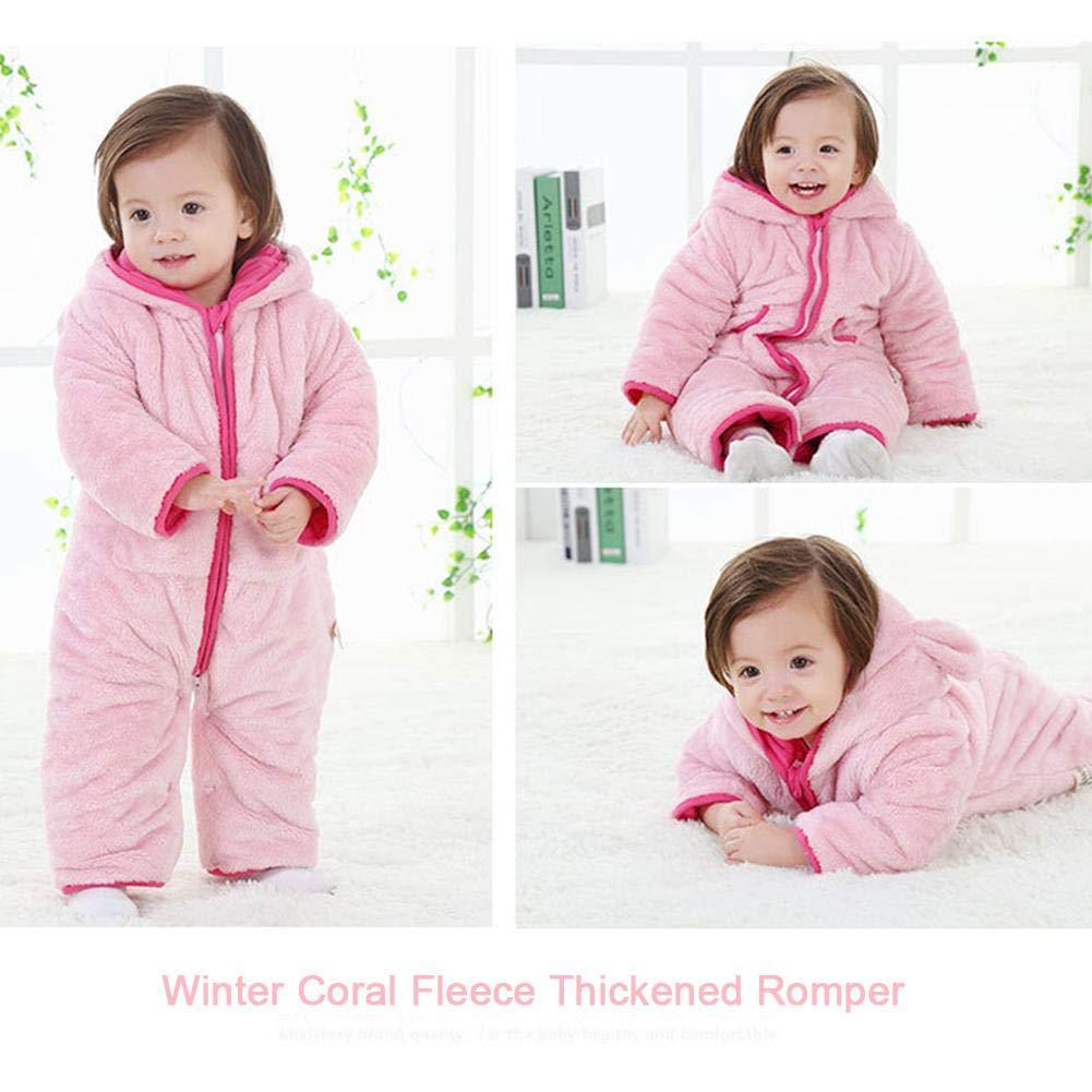 Invierno grueso algodón unisex bebé pelele chico invierno chica mono de invierno ropa exterior body traje recién nacido lindo franela pelele invierno niño ...