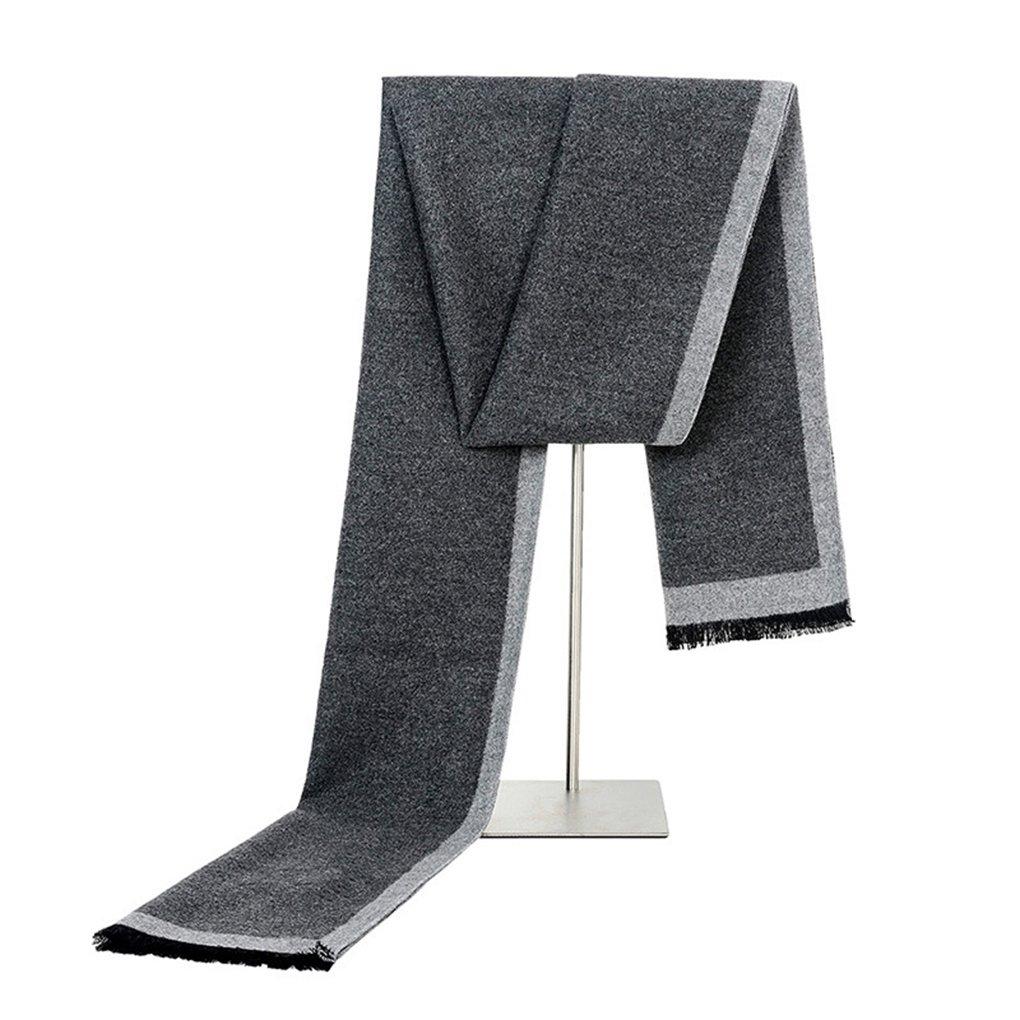 Cashmere Scarf for Men - Long Mens Scarf Cashmere Feel For Spring Summer Winter Mens Scarfs Fashion Shawls Color Grey