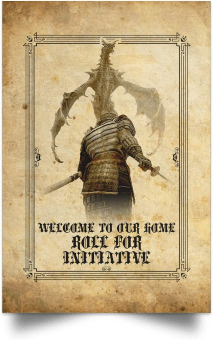 """Welcome To Our Home Roll For Initiative Gallery Wrapped Framed Canvas Prints - Unframed Poster - Home Decor Wall Art, 12"""" x 18"""", Unframed Poster/White"""