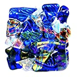 Custom Made Abstract Mosaic Dichroic Glass Knobs - Cabinet or Drawer Pull Handle - 1'' / 30mm - Cobalt Blue Clear Moonstone Turquoise Aqua Teal Green Gold Copper Rust Red Fused Glass