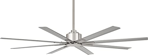 Minka-Aire Xtreme H2O 65 Indoor Outdoor Ceiling Fan in Brushed Nickel