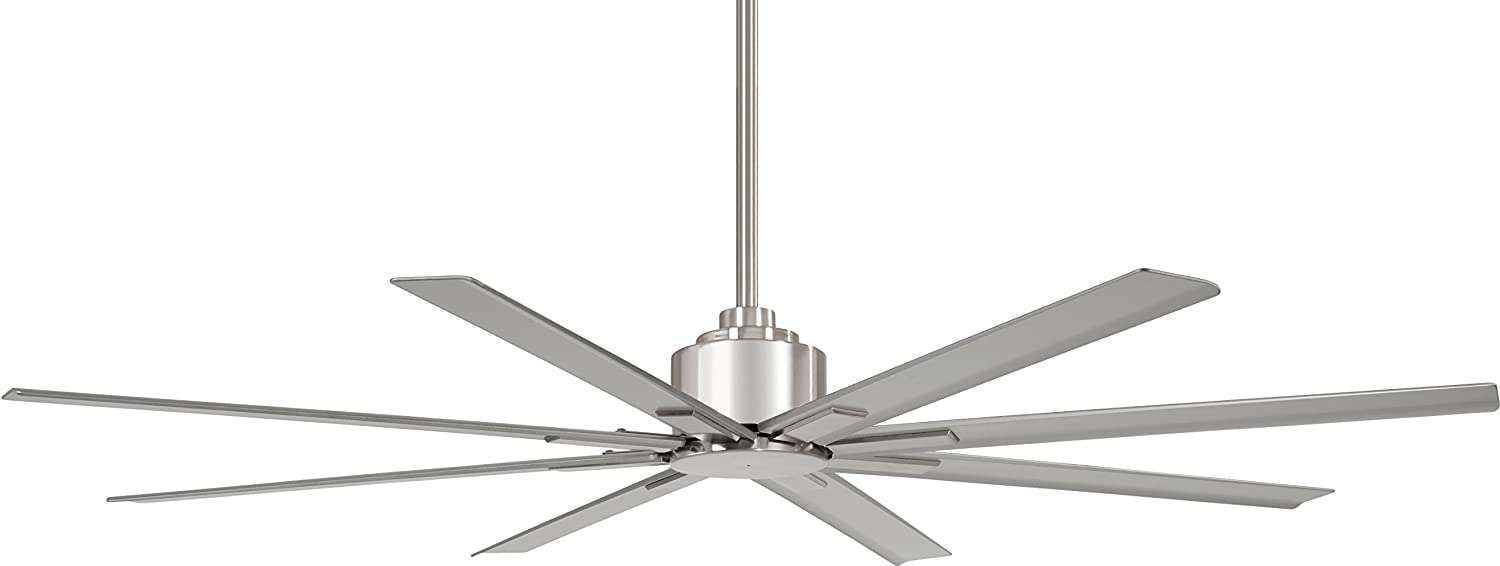 """Minka-Aire F896-65-BNW Xtreme H20 65"""" Outdoor Ceiling Fan with Remote Control, Brushed Nickel Wet"""