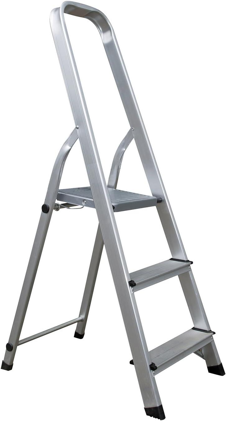 Aluminio Escalera escalera escalera escalera pintor Escalera 150 kg: Amazon.es: Bricolaje y herramientas