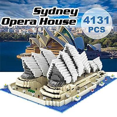GoolRC 9916 Model Sydney Opera House Atomic Building Blocks Kit 4131pcs Gift Toy for Kids: Toys & Games