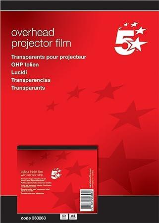 Overheadfolie Laserfolie Kopierfolie OHP DIN A4 50 Blatt seidenmatt