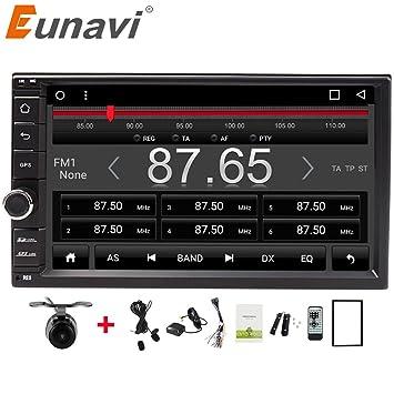 Coche GPS Sat Nav 7 pulgadas, Eunavi Doble 2 Din En tablero Coche estéreo con