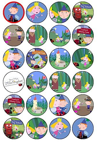 24 Ben & Holly's Little Kingdom Edible Wafer Paper Cup Cake Toppers by CakeThat ()