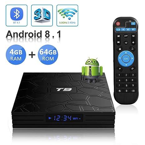 tv box android 8.1 4gb 64 gb octa  Android TV BOX,T9 Android 8.1 TV BOX 4GB RAM/64GB ROM RK3328 Quad ...