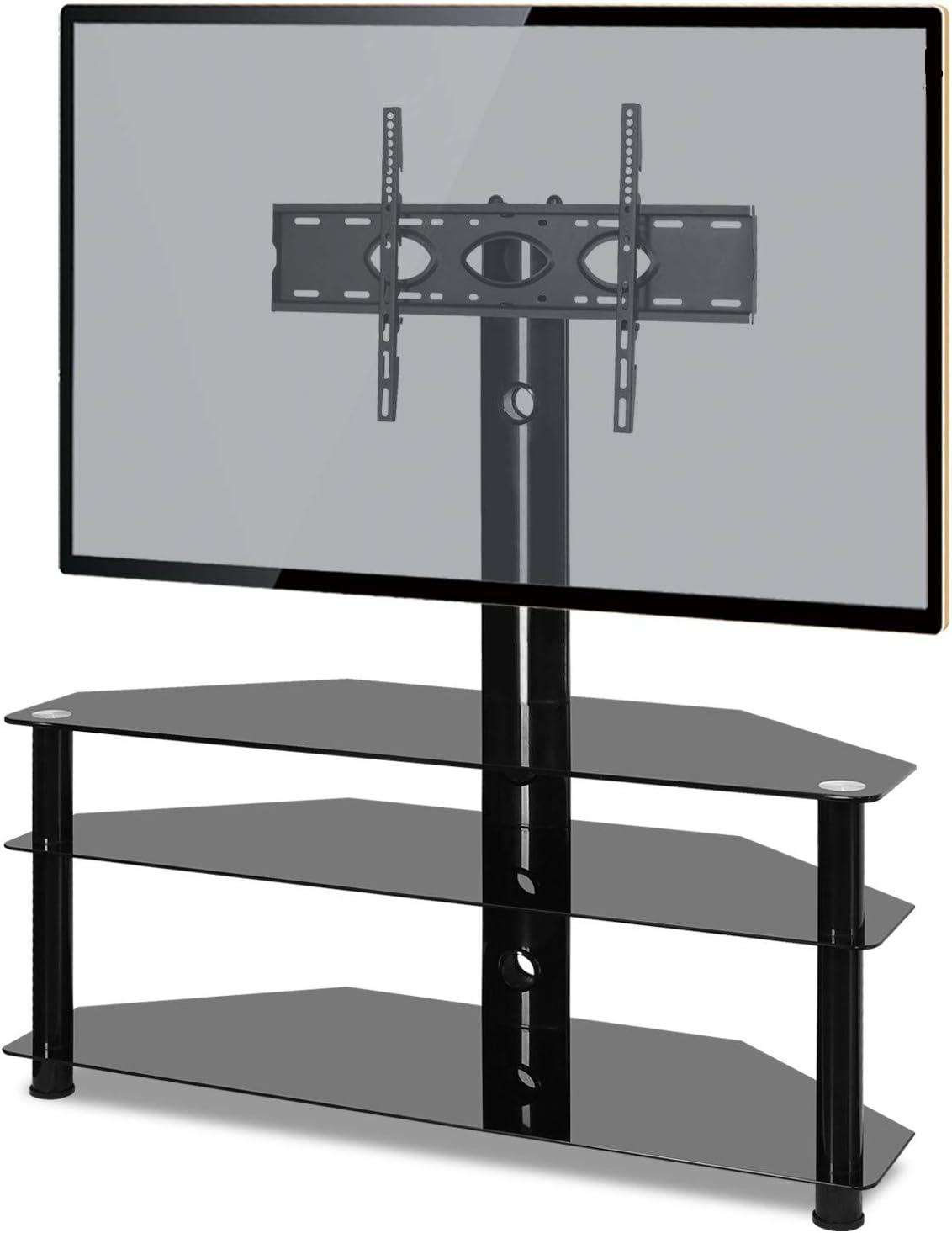 RFIVER Soporte TV de Suelo para Television de 32 a 65 Pulgadas con 3 Estante TW1002