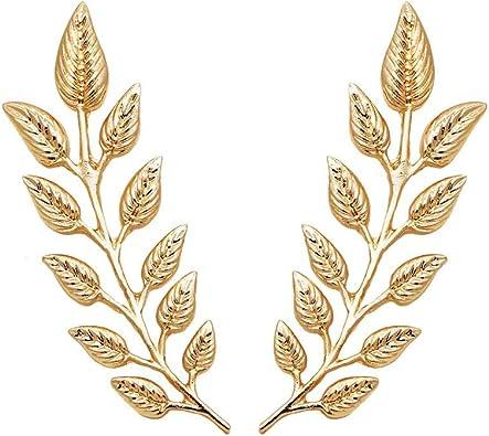 Amazon.com: DIDA 1 par elegante oro traje de hoja de trigo ...