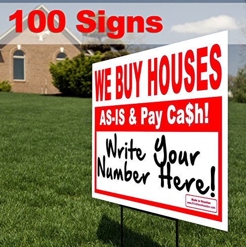 VIBE INK Bundle 100qty - WE Buy Houses - AS-is & Pay Cash - Write Your # - Wholesale 18