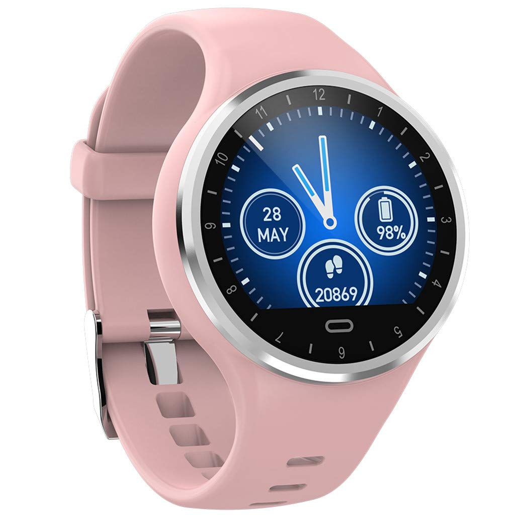 WELCOMEUNI Women Men Smart Watch for Android iOS Sports Fitness Calorie Wristband Wear Sports Bracelet Band