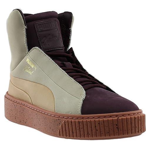 PUMA Women's Platform FSHN Naturel Winetasting/Eggnog High-Top Fashion Sneaker - 10M znDxdOIP