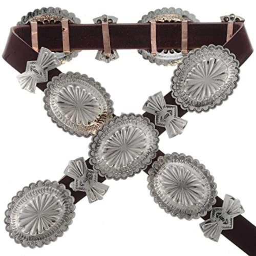 Traditional Silver Concho Belt Navajo Southwest Patterns 0605