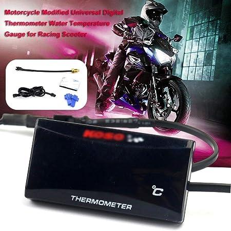 Aiflymi Universal Motorrad Digital Thermometer Wassertemperatur Messgerät Für Das Laufen Des Rollers Auto