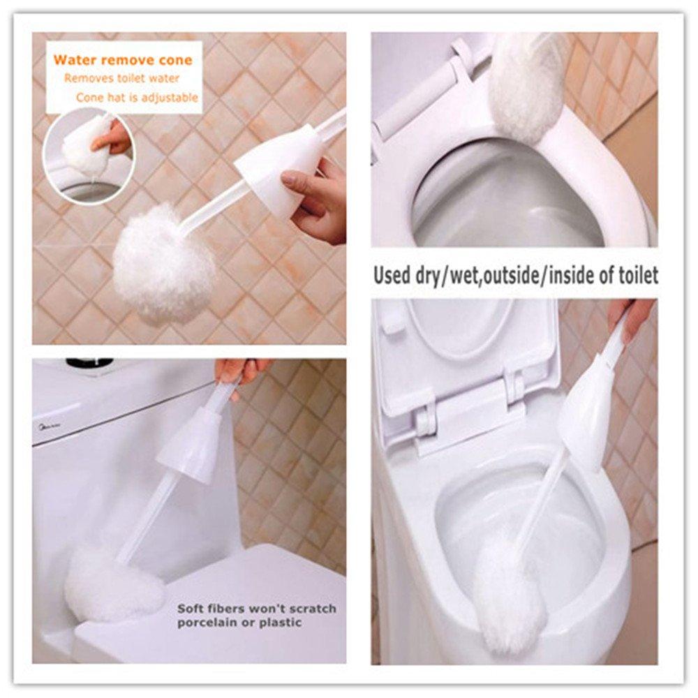 qingqiu Kit de Escobilla de baño y soporte, incluye Natural ...