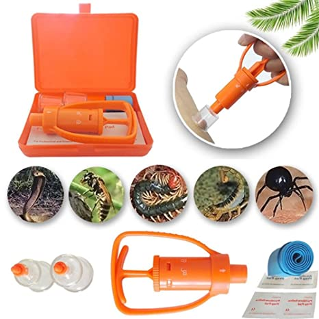 Tbest Venom Extractor Pump Kit,Snake Insect Bee Bite and Sting Poison Remover Kit Emergency Venom Extractor Vacuum Pump Safety Snake Bee Bite Aspiration Pump Outdoor Survival First Aid Kit