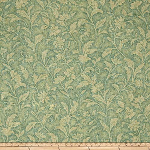 Santee Print Works Vintage Tapestry Floral Light Green Fabric by The Yard