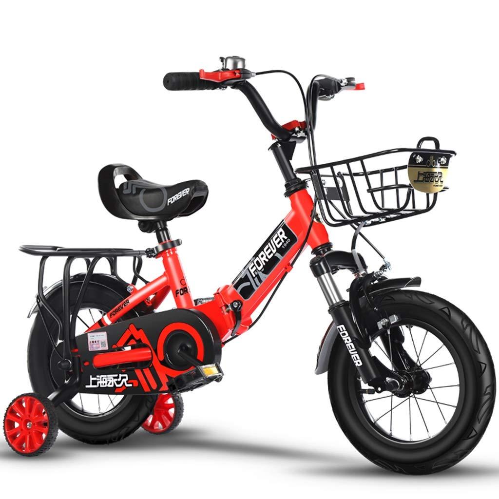 rot 14in Kinderfahrräder 2-10 Jahre Alter Junge Und Mädchen-Spaziergänger Fußbalancenauto Der Kinder Faltendes Fahrrad Im Freien Geben Kindern