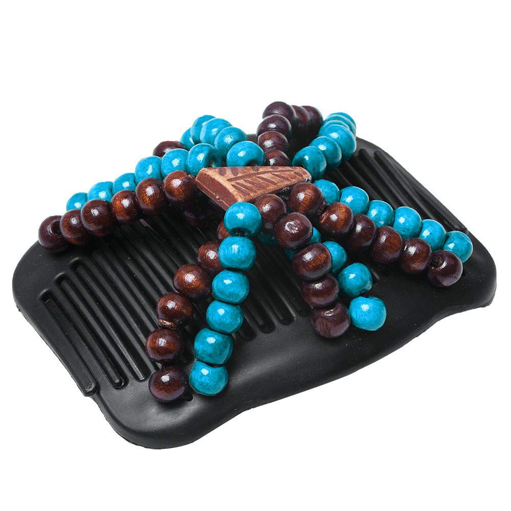 Blue 6 Magic Hair Beauty Decoration Comb Stretchy Beaded Hairpin Bow Double Combs Lady in Assorted Color