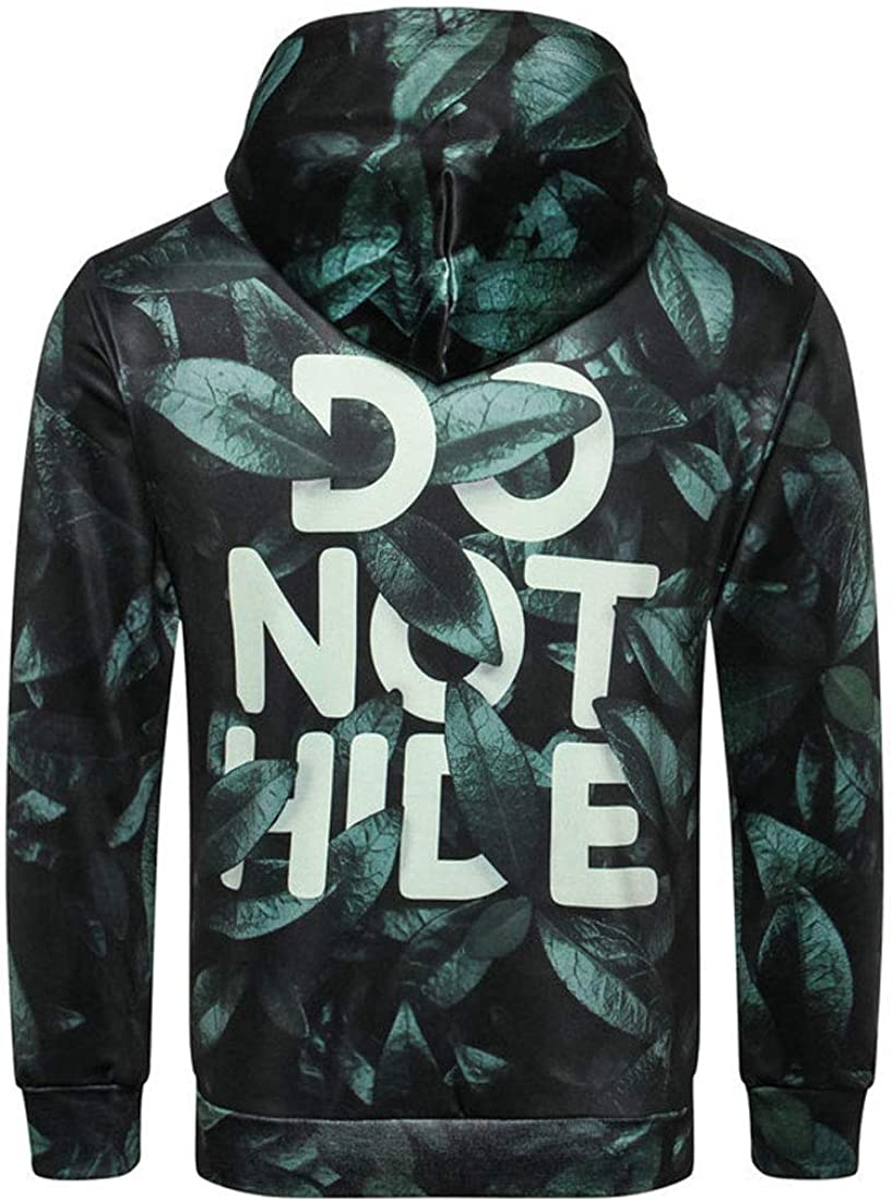 InoVa Mens Outdoor Long Sleeve Sweatshirt Classic Pullover Printed Tshirts Hoody Tops Autumn Hoodie with Kanga Pocket