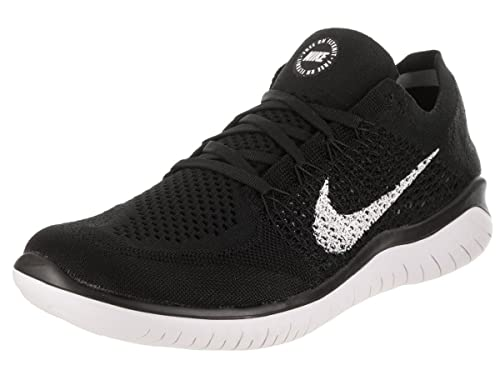 Nike Men's Laufschuh Free Flyknit 2018 Competition Running Shoes, Black  (Black/White 001