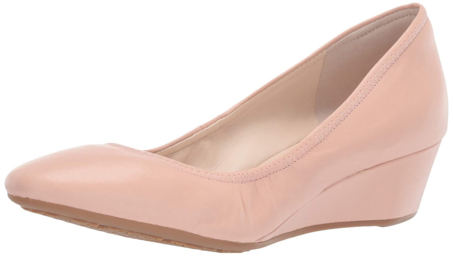 Mahogany pink Leather Cole Haan Women's Sadie Wedge 40MM Pump