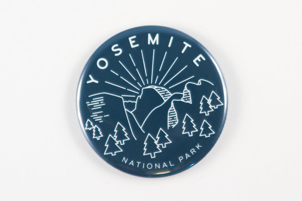 or Pocket Mirror Pin Yosemite National Park Magnet