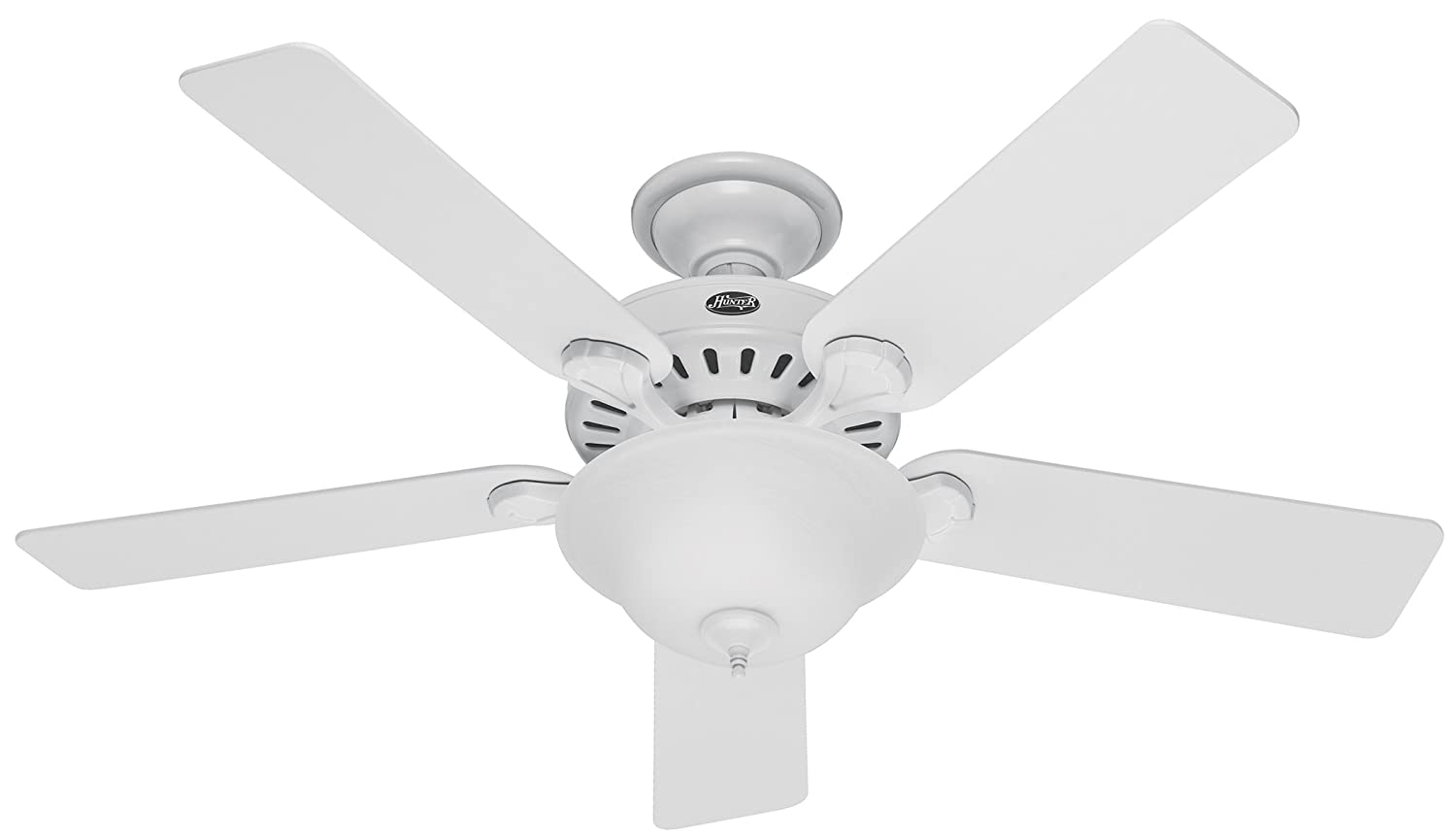 Hunter 53251 pros best five minute fan 52 inch white ceiling fan hunter 53251 pros best five minute fan 52 inch white ceiling fan with five whitebeech blades and swirled marble glass bowl light kit amazon aloadofball Image collections