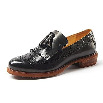 Women Oxford Leather Shoes E211 (7 B(M) US, B)   Oxfords