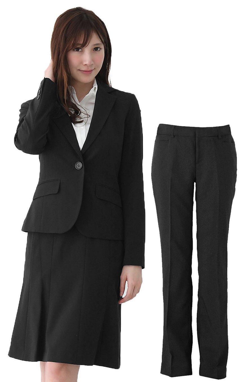(アッドルージュ) AddRouge スーツ レディース 3点 セット ジャケット マーメイドスカート パンツ 洗える 【j5011】 B00RGCGWNO 13号|ブラック ブラック 13号