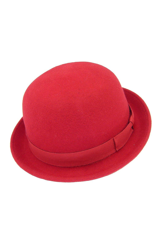 HATsanity Unisex Fashion Wool Felt Soft Bowler Hat WL04BE