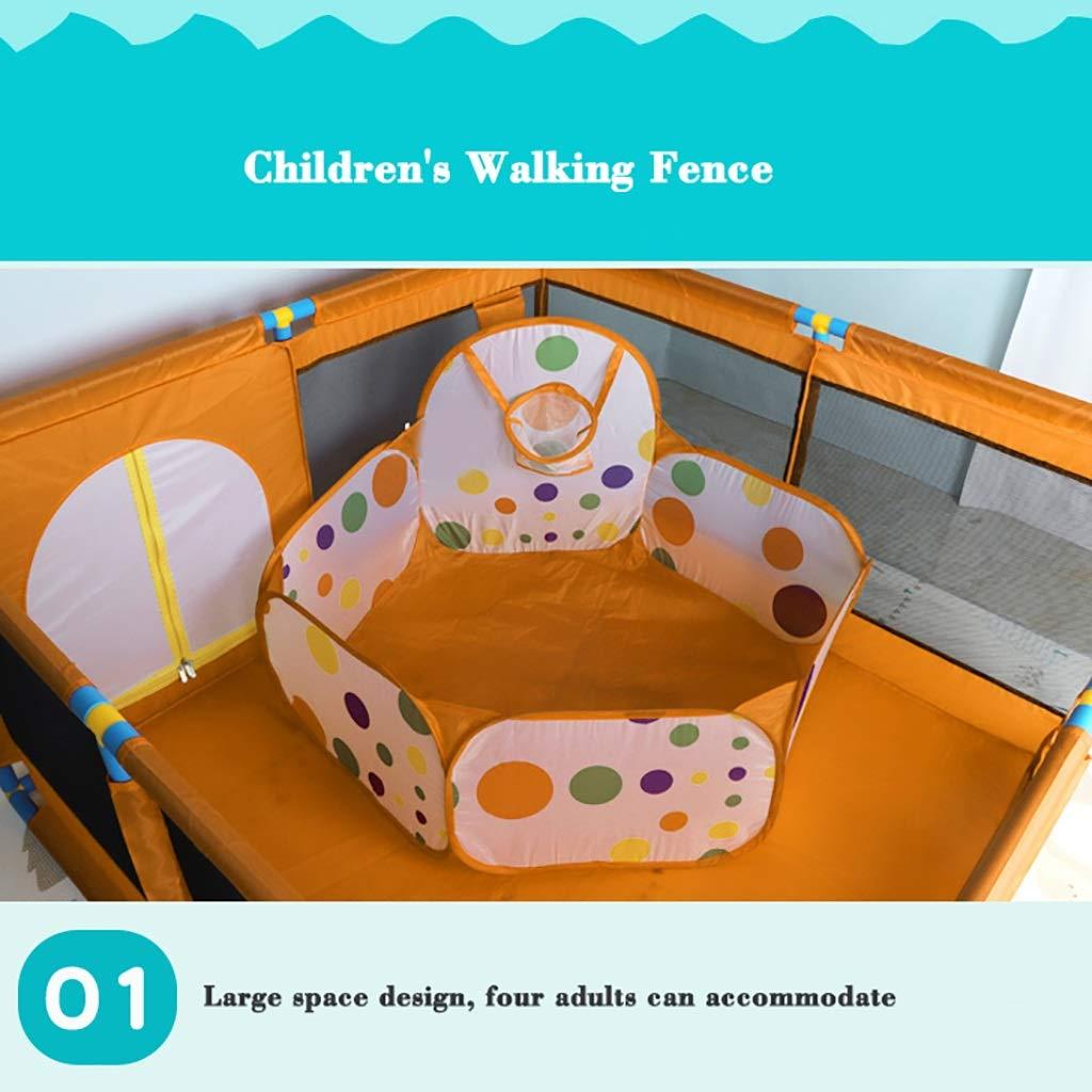 sin dise/ño de pedal Cerca del beb/é Parque infantil para beb/és con panel de actividades y tapetes para el piso de 8 lados: uso de un tubo ABS ambiental engrosado Duradero 66 cm de altura