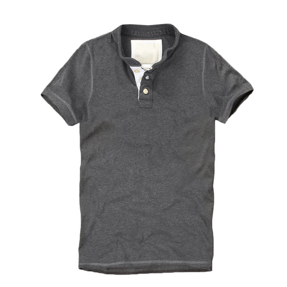 321e502b Muscle Fit Basics Mens Premium Heavyweight Fitted Plain Henley Short Sleeve  T-Shirt - 3 Colours (SMALL, Dark Grey with White Trim): Amazon.co.uk:  Clothing