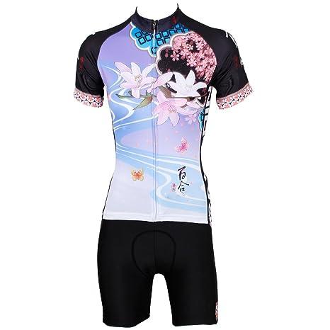 YGBH Ciclismo Jersey Mujer Set MTB Triathlon Team Underwear ...