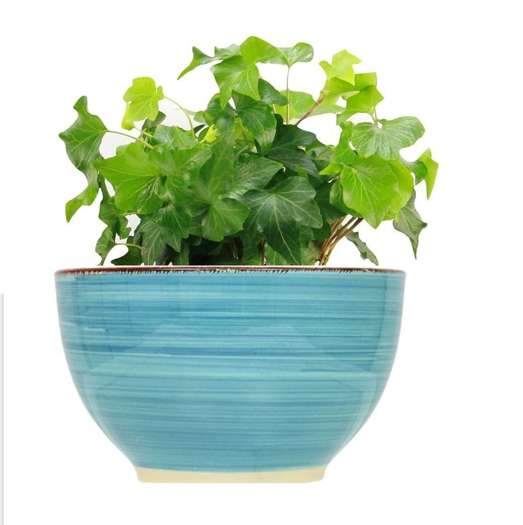 "LTM Ceramic Decro Flower Pot (2 Packs) Planters 5.5"" - Decorative Garden Planter Pots Outdoor/Indoor Home Office Desk, Plant Containers with Drainage Hole - 2 Packs"