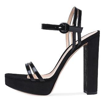 0b3d091f73276 LYY.YY Thick Ferse Plattform Sandalen Sexy Schuhe Roman Schuhe mit ...
