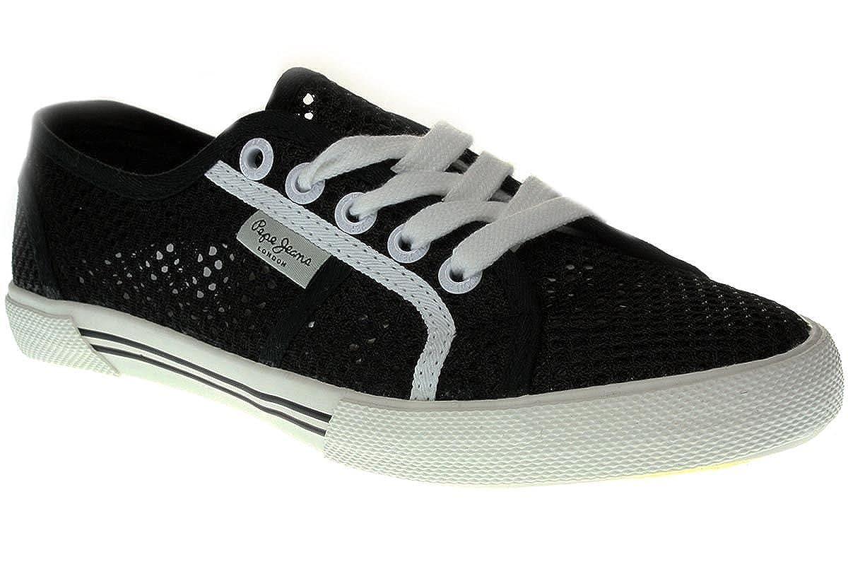 Pepe Jeans London Aberlady Mesh - Damen Schuhe Turnschuhe - PLS30253-999-schwarz