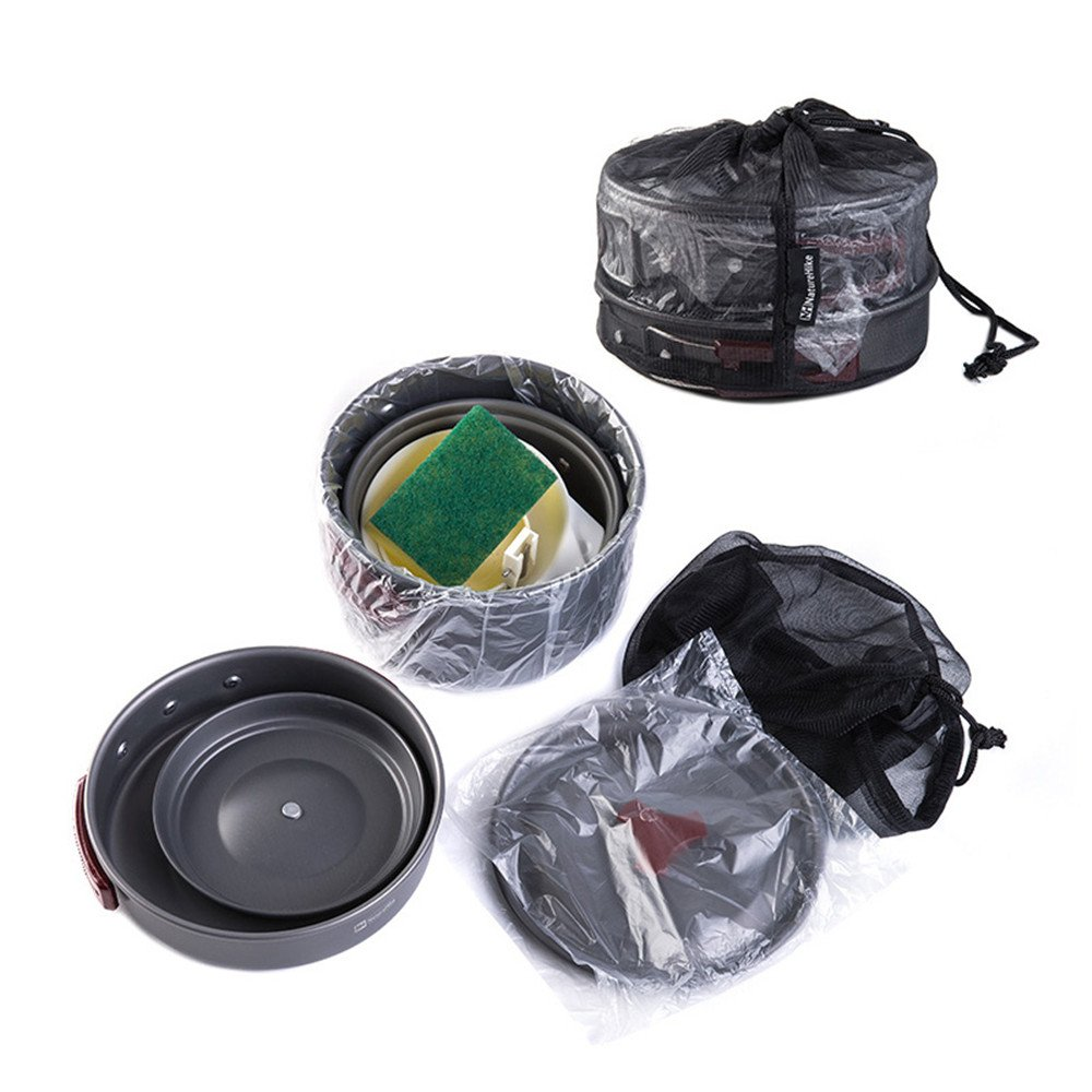 Amazon.com: Igo Online Shop 2-3 Person 4 in 1 Camping Pot Set Outdoor Cookware set Camping Pot set Picnic Cook Ware: Sports & Outdoors