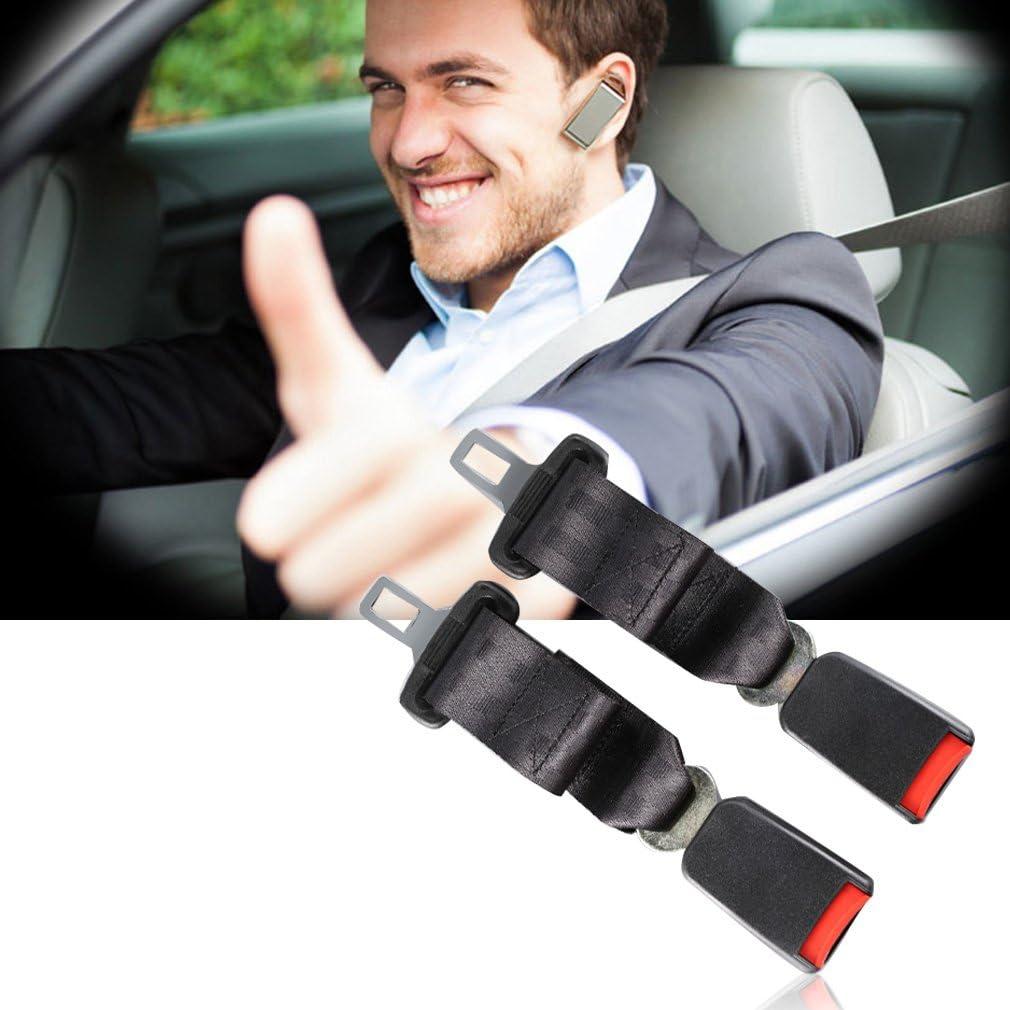 Noir et Rouge Universal Auto Car Seat Safety Belt Extender 35cm Longer Ceinture de s/écurit/é Extension Boucle Accessoires int/érieurs de v/éhicule