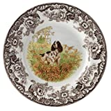 Spode Woodland Hunting Dogs English Springer Spaniel Dinner Plate
